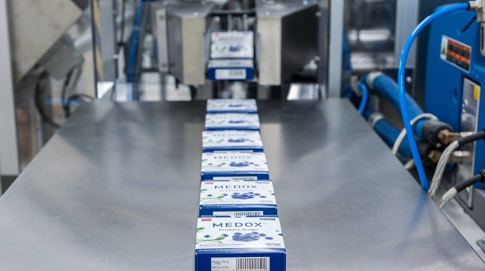 Medpalett produces MEDOX® at its modern facility in Sandnes, Norway, ensuring that each capsule contains precisely 80 mg of anthocyanins.