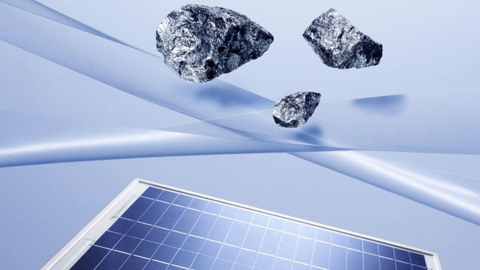 硅是光伏的重要原材料。(图片来源:A. Schwander/赢创)