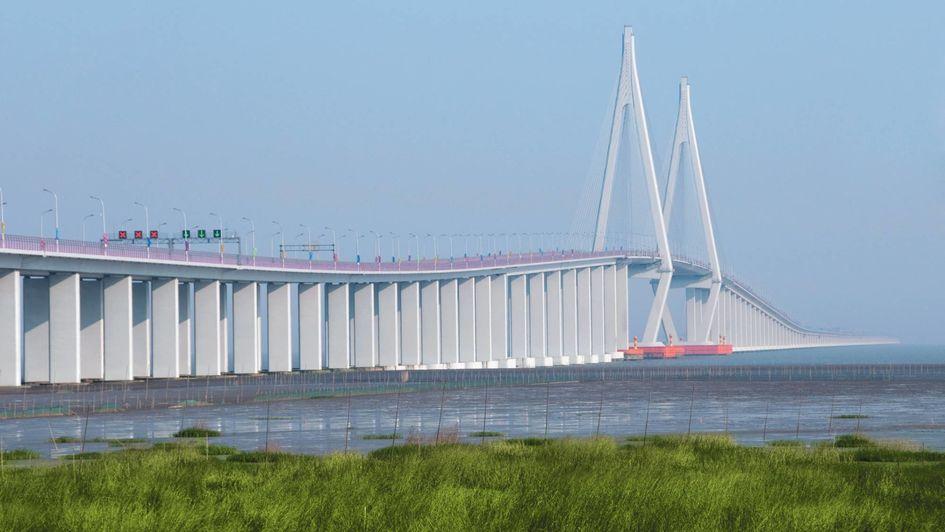 赢创PROTECTOSIL®硅烷制剂被用于杭州湾跨海大桥混凝土结构的防腐蚀处理。